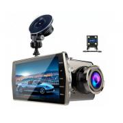 Автомобильный видеорегистратор T667 автомобильный с двумя камерами и микрофоном (Черный)