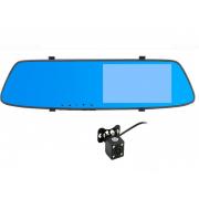 Авторегистратор-зеркало с камерой заднего вид  L1001C (Черный)