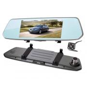 Авторегистратор-зеркало с камерой заднего вид  L1007 (Черный)