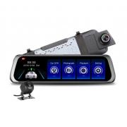 Авторегистратор-зеркало с камерой заднего вид L1012 (Черный)