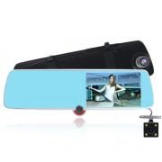Авторегистратор-зеркало с камерой заднего вид L1030 (Черный)