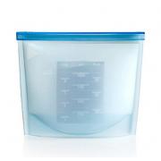 Силиконовый пакет контейнер с застёжкой (Голубой)