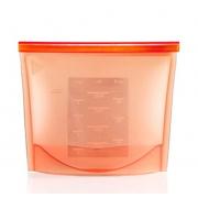 Силиконовый пакет контейнер с застёжкой (Красный)