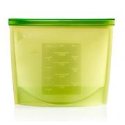 Силиконовый пакет контейнер с застёжкой (Зеленый)
