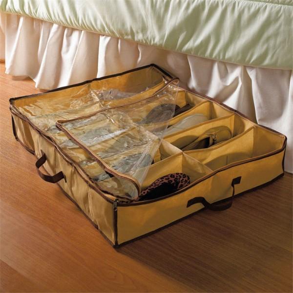 Портативный органайзер для обуви в шкаф (Бежевый)