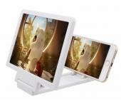 Увеличительный 3D экран для мобильных телефонов Enlarged screen mobile phone (Белый)