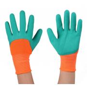 Многофункциональные садовые перчатки GARDEN GENIE GLOVES KP-047 (Оранжевый с зеленым)