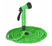 Поливочный садовый растягивающийся шланг с насадкой-распылителем Magic hose 30 метров (Зеленый)