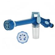 Распылитель на шланг с емкостью для шампуня Ez Jet Water Cannon (Синий)