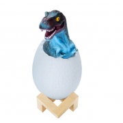 Ночник 3D динозаврик в яйце Dino 1 (Синий)