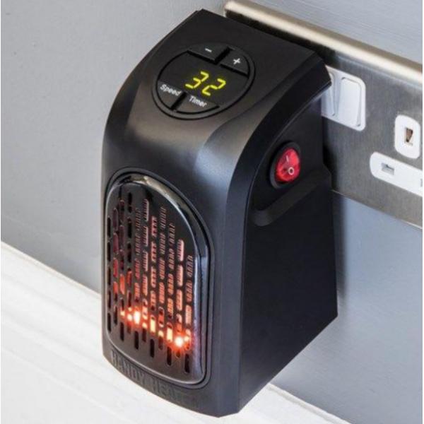 Портативный мини электрообогреватель Handy Heater 400W с пультом TV-299-P (Черный)