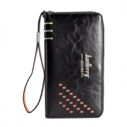 Мужское портмоне-клатч Baellerry Leather W009 (Черный)
