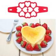 Форма для выпечки Сердечки (Красный)