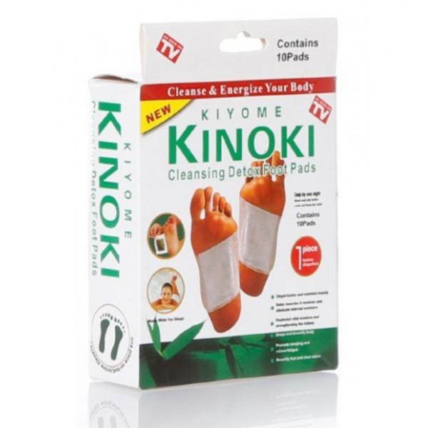 Детоксикационный пластырь для стоп Kinoki (Белый)