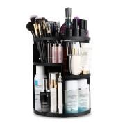 Многофункциональный вращающийся органайзер для косметики 360 Rotation Cosmetic Organizer (Черный)