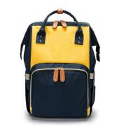 Сумка-рюкзак для мам (Синий с желтым)