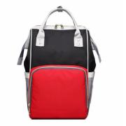 Сумка-рюкзак для мам Kidsboll (Черный с красным)