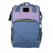 Сумка-рюкзак для мам Kidsboll (Голубой с сиреневым)