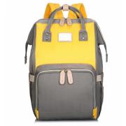 Сумка-рюкзак для мам Kidsboll (Серый желтый)