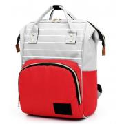 Сумка-рюкзак для мам Kidsboll (Серый с красным)