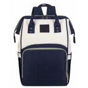 Сумка-рюкзак для мам Kidsboll (Синий с белым)