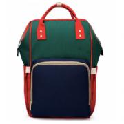 Сумка-рюкзак для мам Kidsboll (Синий с зеленым)