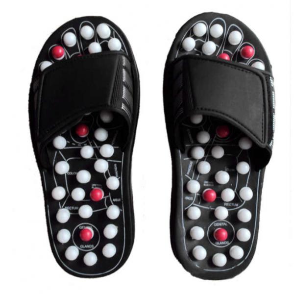 Тапочки массажные reflexology sandals размер 39 (Черный)
