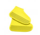 Водонепроницаемые многоразовые бахилы от дождя и грязи для защиты обуви, размер M (Желтый)