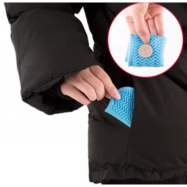 Водонепроницаемые многоразовые бахилы от дождя и грязи для защиты обуви, размер M (Розовый)