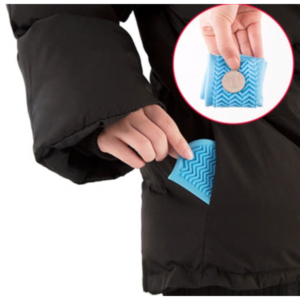 Водонепроницаемые многоразовые бахилы от дождя и грязи для защиты обуви, размер M (Синий)