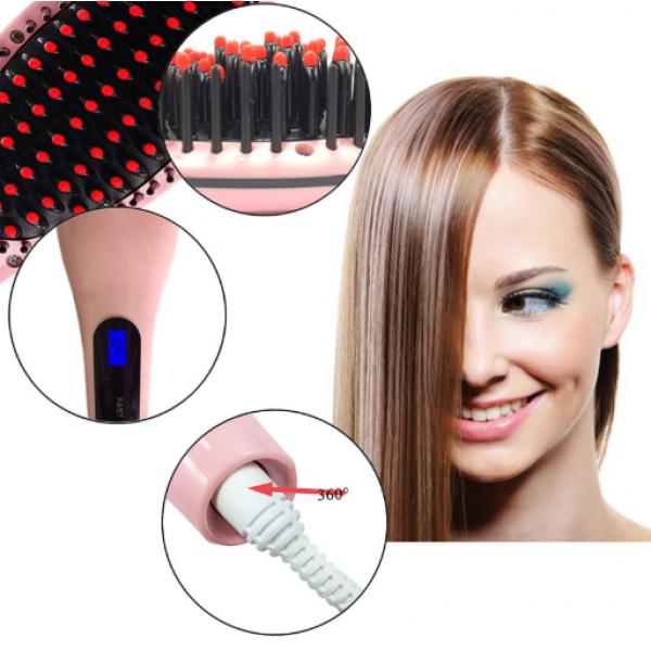 Расческа выпрямитель Fast Hair Straightener (Розовый)