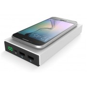 Беспроводное зарядное устройство Qi Wireless Charging + Power Bank Powerbank 12 000 mAh 2 в 1 с экраном (Белое)