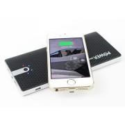 Беспроводное зарядное устройство Qi Wireless Charging + Power Bank Powerbank 10000 mAh 2 в 1 (Черное)
