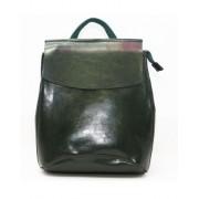 Рюкзак French искусственная кожа (Темно-зелёный)