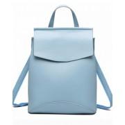 Рюкзак French натуральная кожа (Голубой)