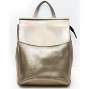 Рюкзак French натуральная кожа (Золотой)