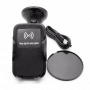 Автомобильный зарядный держатель QI Wireless Carholder, беспроводная зарядка Qi  для смартфона (Черный)