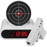 Будильник с мишенью Gun Alarm Clock (Белый)
