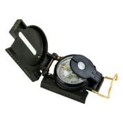 Компас жидкостной металлический с линзой и крышкой Marching Lensatic Compass (Черный)