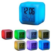 Будильник часы Color Change (Белый)