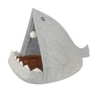 Домик для домашних животных Акула (Серый)