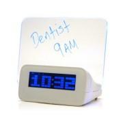 Светодиодный цифровой будильник с люминесцентной панелью (Белый)