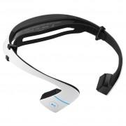 Беспроводные наушники Bone conduction headset передают музыку от кости (Белые)