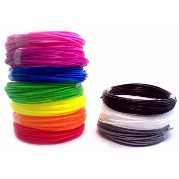 Стержень PLA пластмасса ABS пластик, картридж для 3D ручка 3DPen 2, разные цвета, 5 м, 10 шт., диаметр 1.75 мм