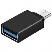 Переходник OTG Type C, USB мама, Type C папа (Черный)