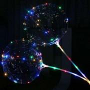 Прозрачный светящийся воздушный шар c палочкой и led-гирляндой