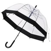 Прозрачный лёгкий зонт-трость REMAX RT-U5 Transparent Umbrella (Черный)
