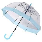 Прозрачный лёгкий зонт-трость REMAX RT-U5 Transparent Umbrella (Голубой)