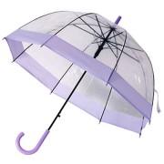 Прозрачный лёгкий зонт-трость REMAX RT-U5 Transparent Umbrella (Фиолетовый)
