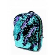 Женский рюкзак с блестками (бирюзовый с фиолетовым)